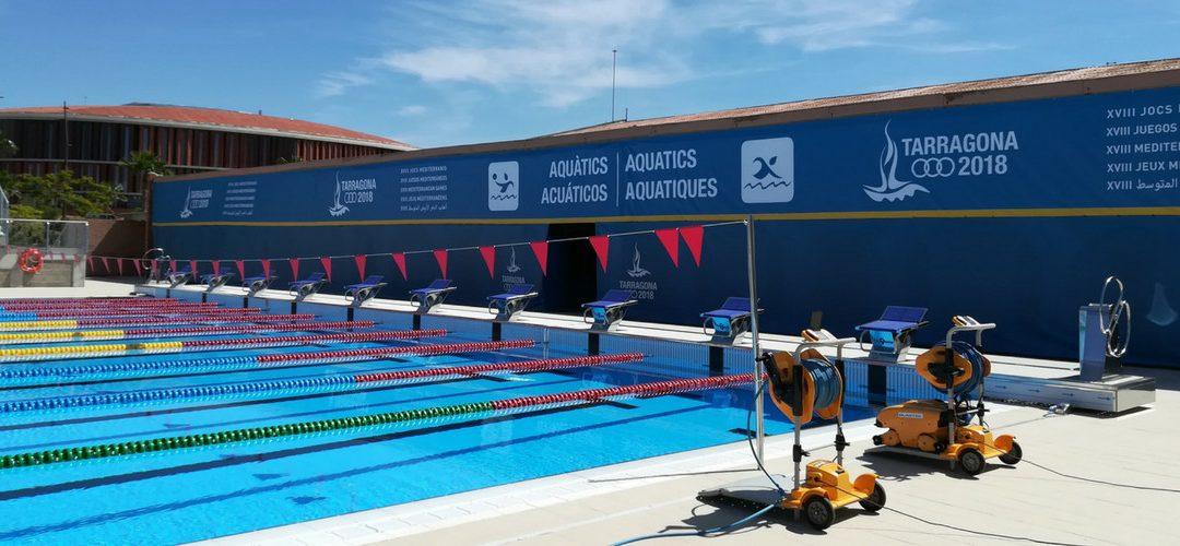 Limpiafondos WAVE en los XVIII Juegos Mediterráneos