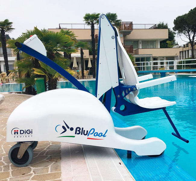 Ascensor piscina eléctrico