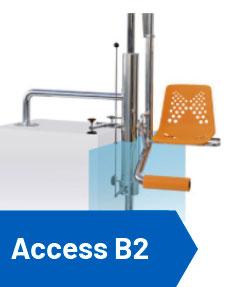 detalle Elevador piscina hidráulico access
