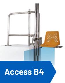 elevador piscina hidráulico access b4