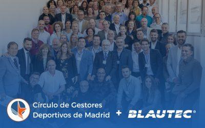 Nueva colaboración: Blautec y el Círculo de Gestores Deportivos de Madrid