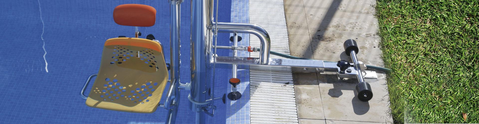Elevador piscina hidráulico